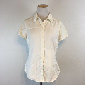 REI Women's White UPF 40+ Button Front Shirt